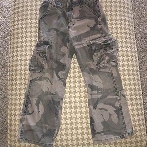 Boys camo cargo pants 7 regular